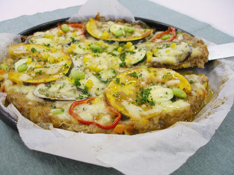 野菜のビッグピザバーグ