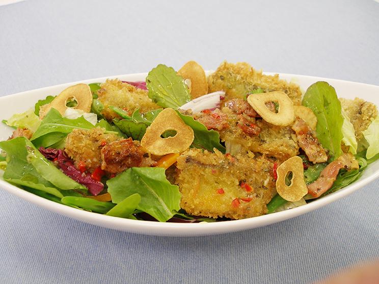 アジフライのサラダ