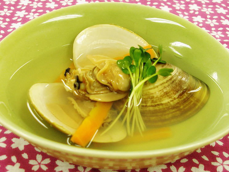 蛤のスープ