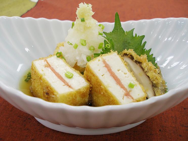 お豆腐のフライ揚げ出し風