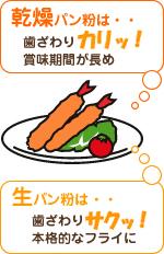 生パン粉と乾燥パン粉の違い