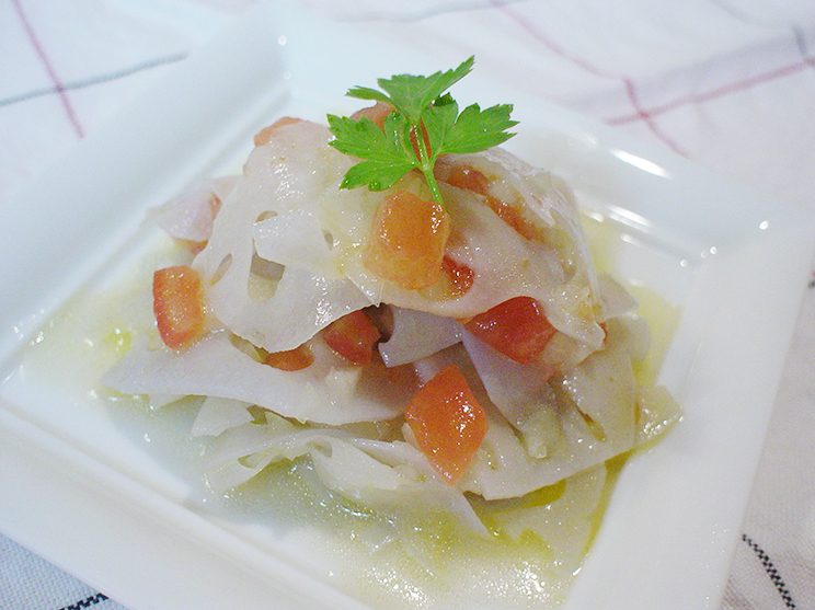レンコンのイタリアンサラダ