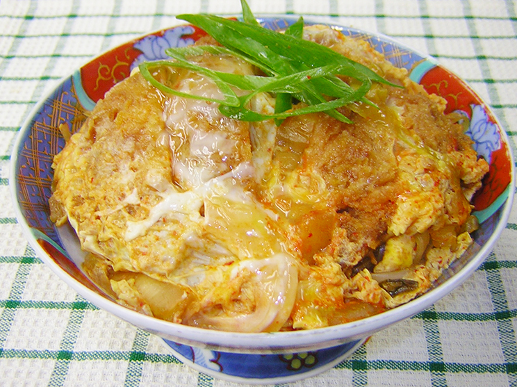 キムチカツ丼